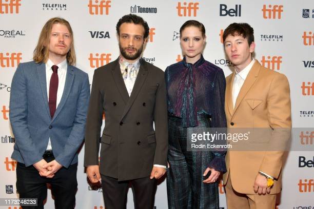 Nick Rowland Cosmo Jarvis Niamh Algar and Barry Keoghan attend the Calm With Horses photo call during the 2019 Toronto International Film Festival at...