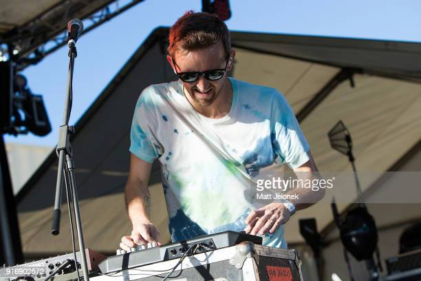 Nick Sanborn from Sylvan Esso performs on stage at St Jerome's Laneway Festival on February 11 2018 in Fremantle Australia