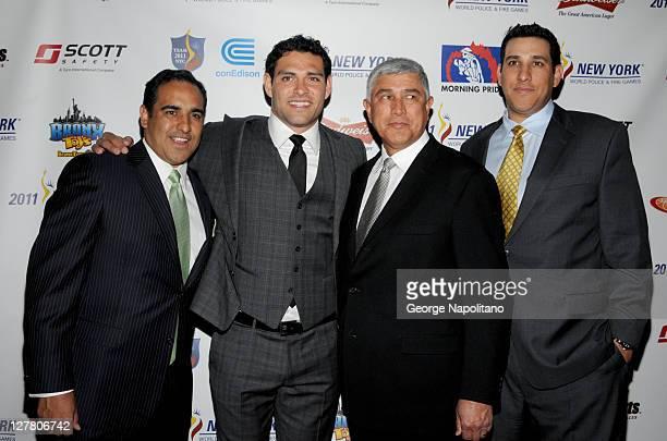 Nick Sanchez NY Jets Quarterback Mark Sanchez Nick Sanchez Sr and Brandon Sanchez attend the 2011 World Police and Fire Games Benefit Gala dinner at...