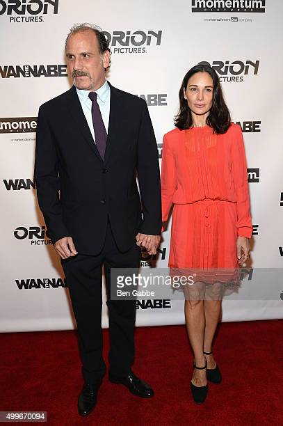 Nick Sandow and Tamara MalkinStuart attend The Wannabe New York premiere at Crosby Street Hotel on December 2 2015 in New York City