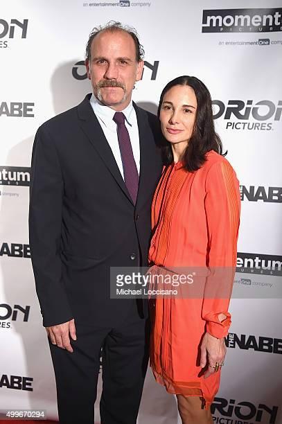 Nick Sandow and Tamara MalkinStuart attend The Wannabe New York premiere at Crosby Street Hotel on December 2 2015 in New York City
