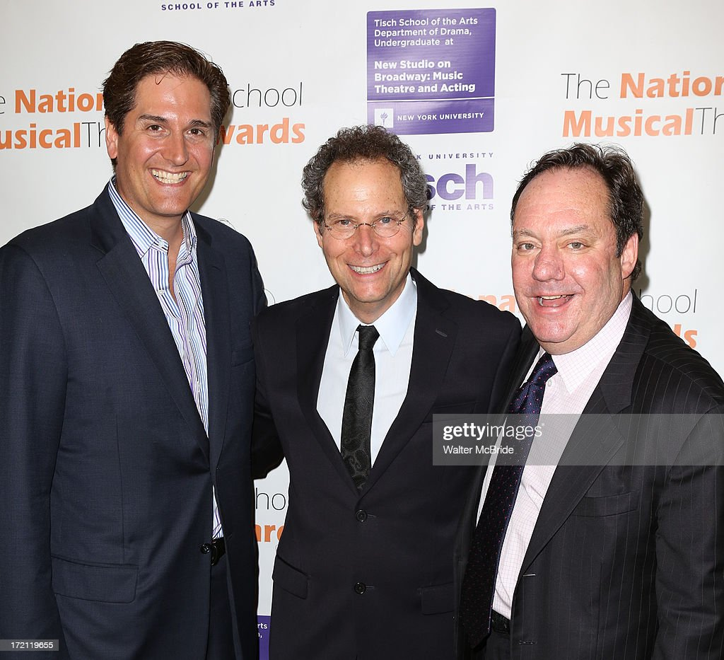 Nick Scanndalios, Van Kaplan and James M. Nederlander attend the 5th Annual National High School Musical Theater Awards at Minskoff Theatre on July 1, 2013 in New York City.