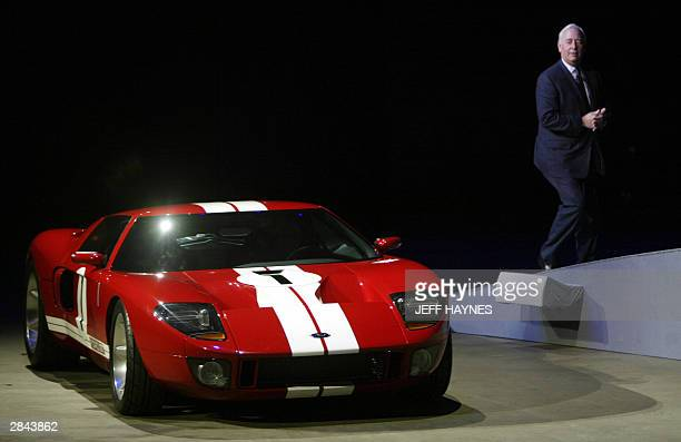 Nick Scheele, President and COO Ford Motor Company walks away from the 2005 Ford GT 04 January 04 during the press days at the North American...