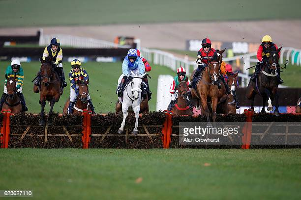 Nick Scholfield riding Copain De Classe on their way to winning The Grand Slam Of Darts At 188Bet Novices' Hurdel Race at Chepstow Racecourse on...