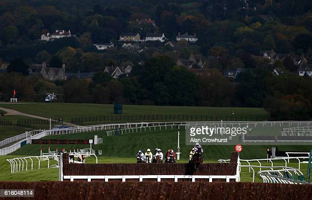 Nick Scholfield riding Marracudja on their way to winning The squareintheaircom Novices' Steeple Chase at Cheltenham Racecourse on October 21 2016 in...