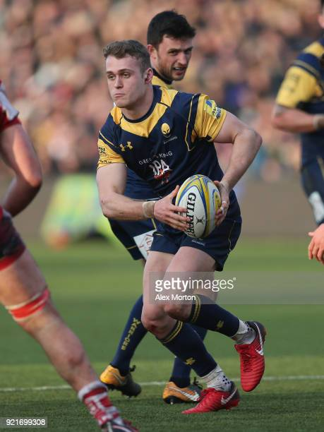 Nick Schonert of Worcester during the Aviva Premiership match between Worcester Warriors and Gloucester Rugby at Sixways Stadium on February 17 2018...