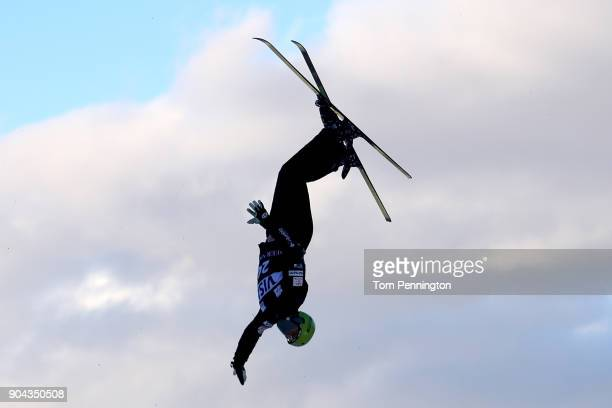 Nick Seemann of the United States competes in the Men's Aerials qualifying during the 2018 FIS Freestyle Ski World Cup at Deer Valley Resort on...