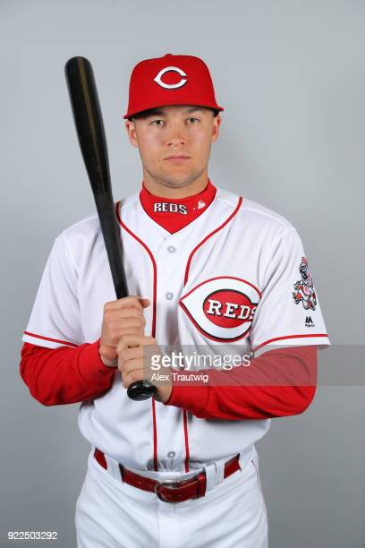 Nick Senzel of the Cincinnati Reds poses during Photo Day on Tuesday February 20 2018 at Goodyear Ballpark in Goodyear Arizona
