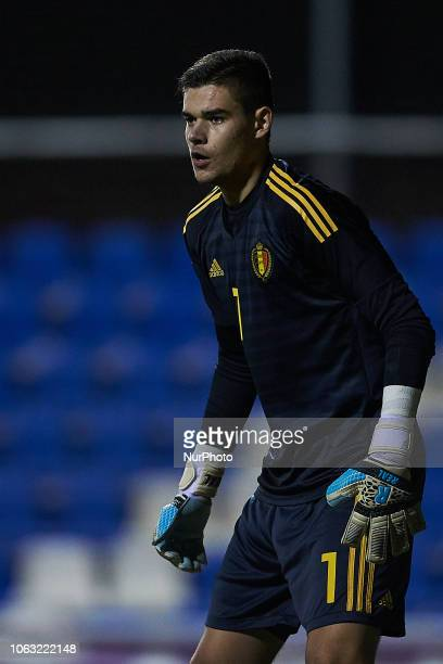 Nick Shinton of Belgium in action during the international friendly match between Belgium U18 and Netherlands U19 at Pinatar Arena on November 17...