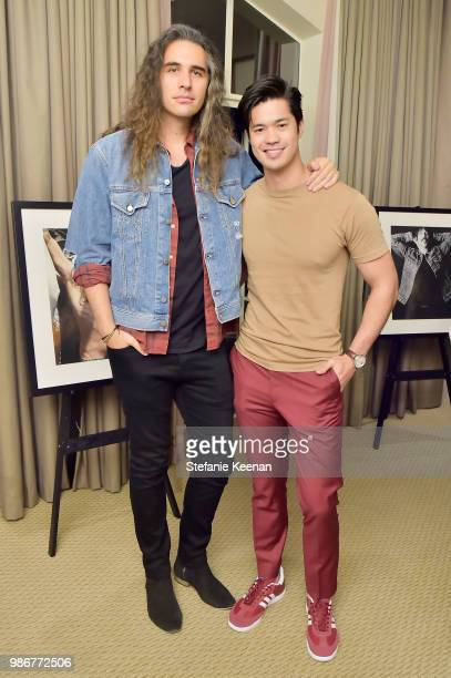 Nick Simmons and Ross Butler attends= Diesel Presents Scott Lipps Photography Exhibition 'Rocks Not Dead' at Sunset Tower on June 28 2018 in Los...
