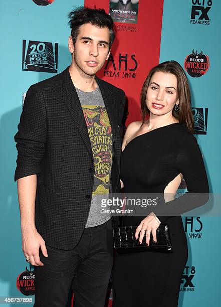 Nick Simmons and Sophie Simmons arrives at the American Horror Story Freak Show Los Angeles Premiere at TCL Chinese Theatre IMAX on October 5 2014 in...