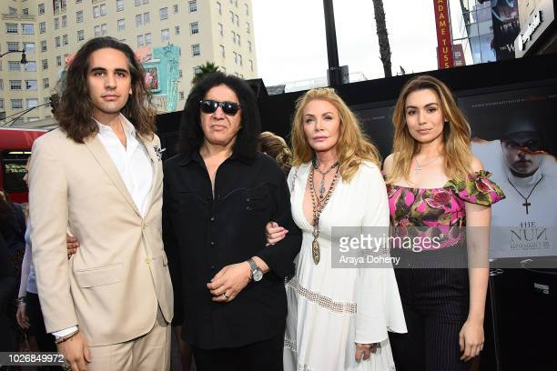 Nick Simmons Gene Simmons Shannon Tweed Sophie Simmons attends the premiere of Warner Bros Pictures' 'The Nun' at TCL Chinese Theatre on September 4...