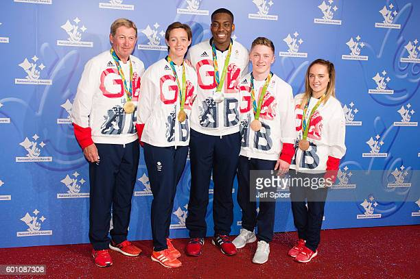 Nick Skelton Hannah Macleod Lutalo Muhammad Nile Wilson and Amy Tinkler arrive for the National Lottery Awards 2016 at The London Studios on...