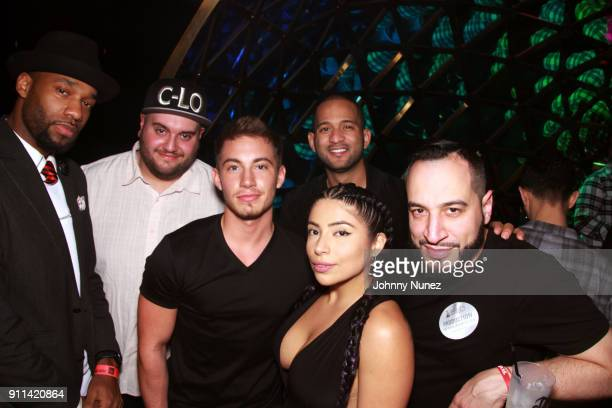 Nick Slay CLo Jaime Wilson Jessenia Vice DJ E Nice and Robb Lazenby attend the Lexy Panterra PreGrammy Party at W Hotel Times Square on January 27...