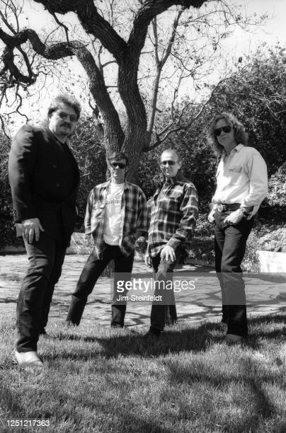 Nick St. Nicholas super group World Classic Rockers Bobby Kimball, Michael Monarch, Randy Meisner, Nick St. Nicholas pose for a portrait at the...