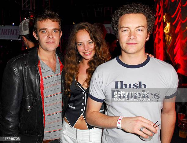 Nick Stahl Bijou Phillips and Danny Masterson during Scarface E3 Party Inside at The Vanguard in Hollywood California United States