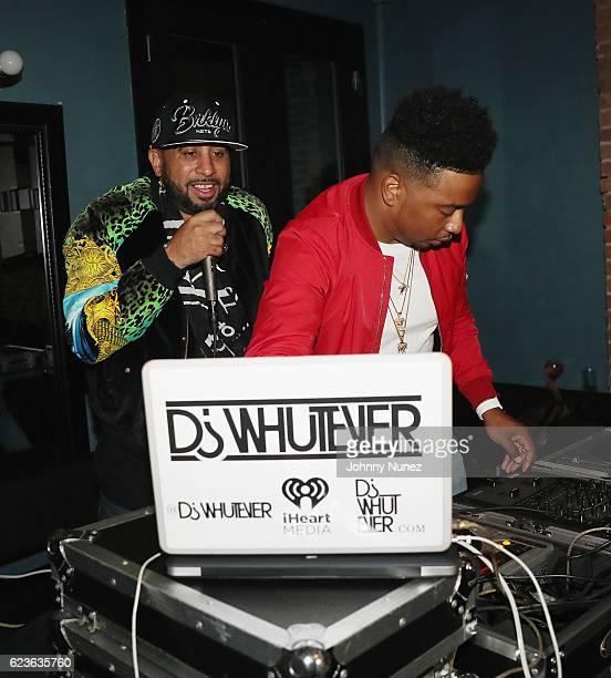 Nick Storm and DJ Whutever attend DJ Suss One Birthday Celebration at The Loft on November 15 2016 in New York City
