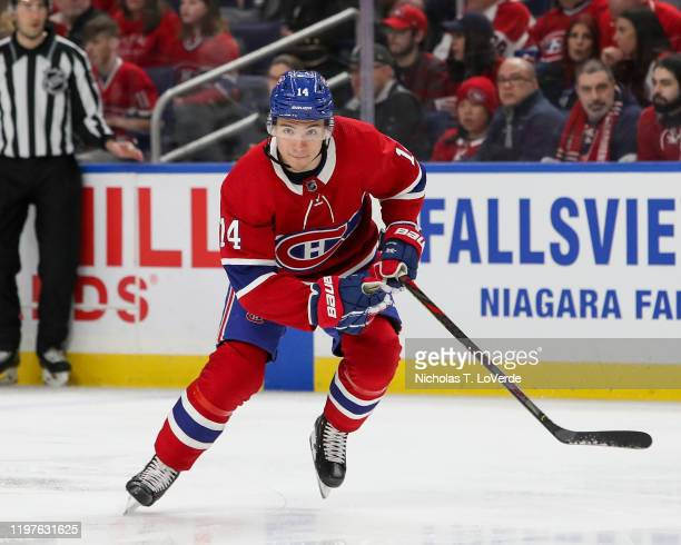 Nick Suzuki of the Montreal Canadiens skates during the first period of play at the KeyBank Center on January 30 2020 in Buffalo New York