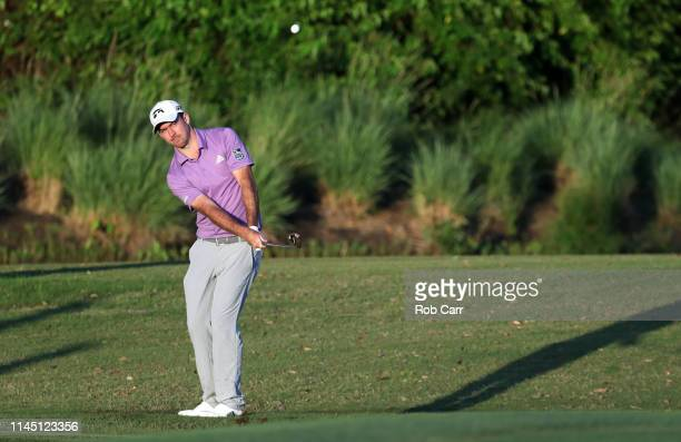 Nick Taylor of Canada chips on the seventh green during the first round of the Zurich Classic at TPC Louisiana on April 25 2019 in Avondale Louisiana