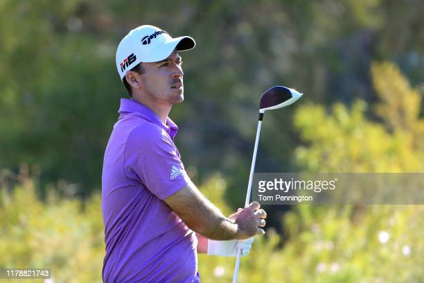 Nick Taylor of Canada hits off the 15th tee during the first round of the Shriners Hospitals for Children Open at TPC Summerlin on October 3 2019 in...