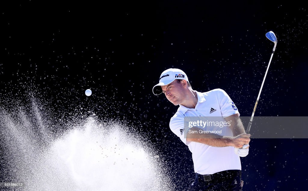 Nick Taylor of Canada plays a shot during a practice round prior to the Arnold Palmer Invitational Presented By MasterCard at Bay Hill Club and Lodge on March 13, 2018 in Orlando, Florida.