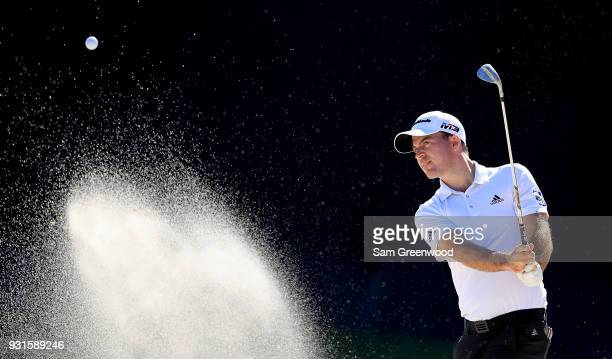 Nick Taylor of Canada plays a shot during a practice round prior to the Arnold Palmer Invitational Presented By MasterCard at Bay Hill Club and Lodge...