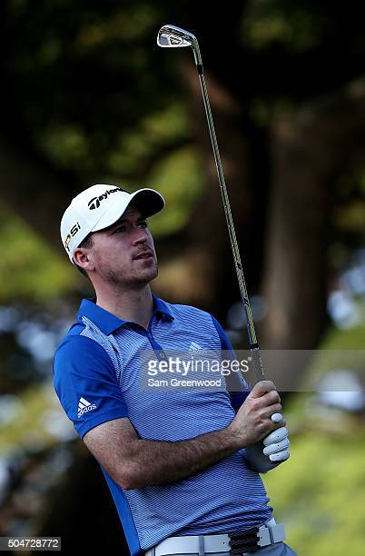 Nick Taylor of Canada plays a shot during practice rounds prior to the Sony Open In Hawaii at Waialae Country Club on January 12 2016 in Honolulu...