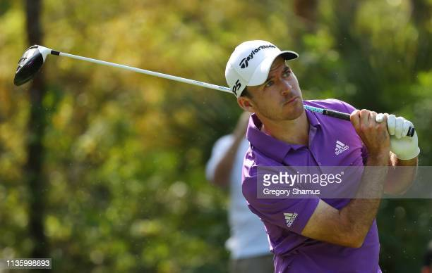 Nick Taylor of Canada plays his shot from the 15th tee during the second round of The PLAYERS Championship on The Stadium Course at TPC Sawgrass on...