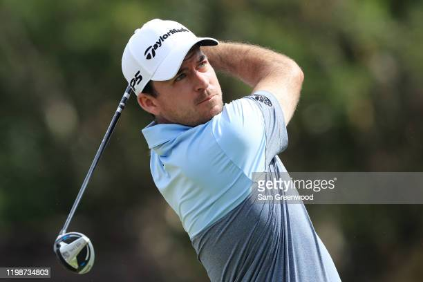 Nick Taylor of Canada plays his shot from the 16th tee during the second round of the Sony Open in Hawaii at the Waialae Country Club on January 10...