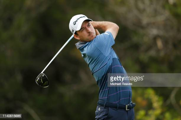 Nick Taylor of Canada plays his shot from the fifth tee during the second round of the 2019 Valero Texas Open at TPC San Antonio Oaks Course on April...