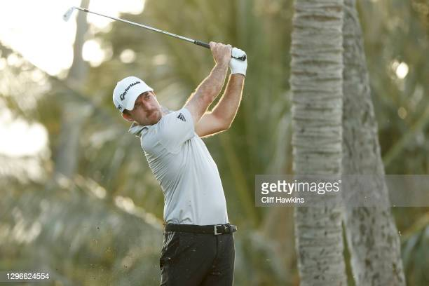 Nick Taylor of Canada plays his shot from the seventh tee during the second round of the Sony Open in Hawaii at the Waialae Country Club on January...
