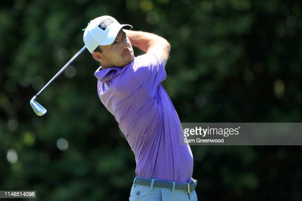 Nick Taylor of Canada plays his shot from the sixth tee during the first round of the 2019 Wells Fargo Championship at Quail Hollow Club on May 02...