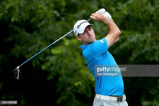 Nick Taylor of Canada plays his shot from the sixth tee during the First Round of the DEAN DELUCA Invitational at Colonial Country Club on May 26...
