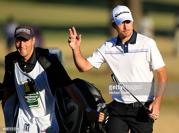 Nick Taylor of Canada walks onto the 18th hole during the Final Round of the Sanderson Farms Championship at The Country Club of Jackson on November...