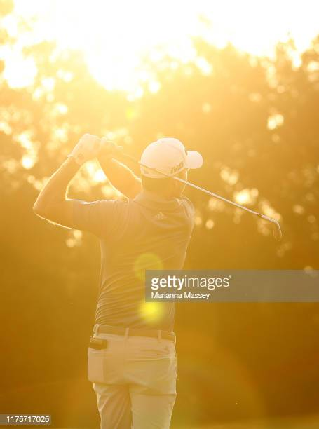 Nick Taylor of Canada warms up on the range prior to the start of the first round of the Sanderson Farms Championship at The Country Club of Jackson...