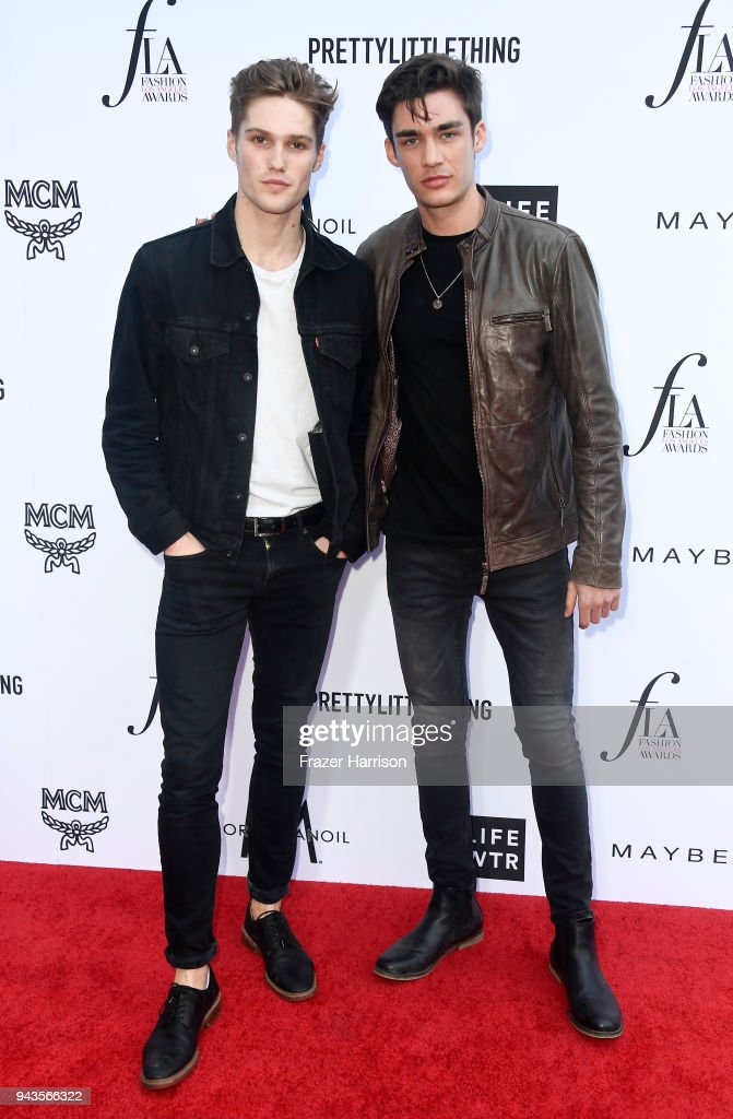 Nick Truelove (L) and David Bywater attend The Daily Front Row's 4th Annual Fashion Los Angeles Awards at Beverly Hills Hotel on April 8, 2018 in Beverly Hills, California.