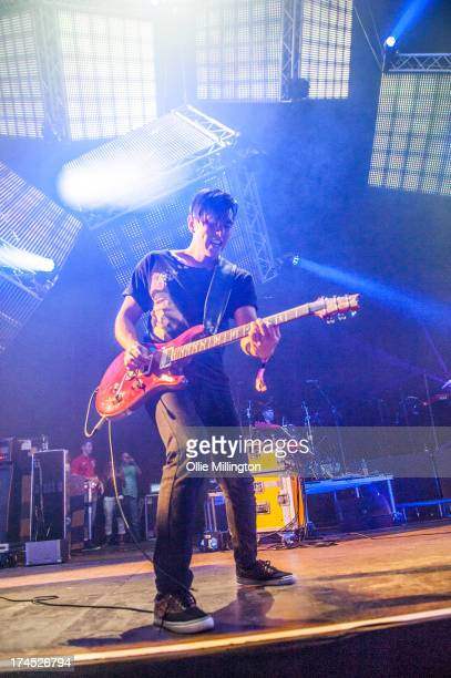 Nick Tsang of Modestep performs on stage on Day 1 of Global Gathering 2013 on July 26 2013 in StratforduponAvon England