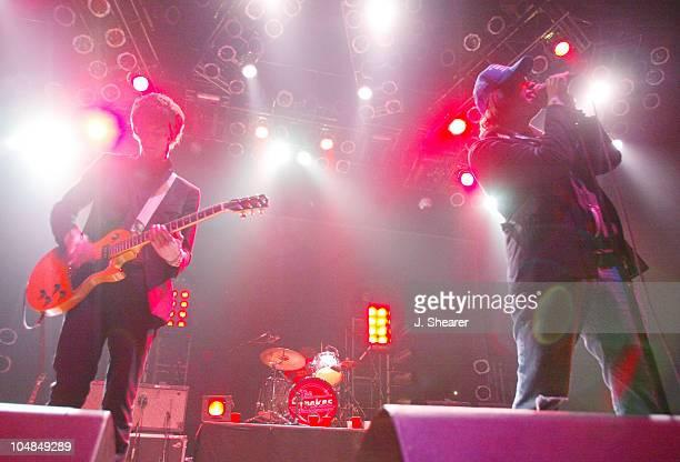 Nick Valensi and Julian Casablancas of The Strokes