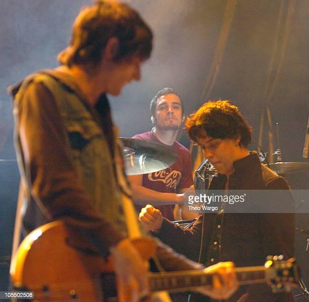 Nick Valensi Fab Moretti and Julian Casablancas of The Strokes