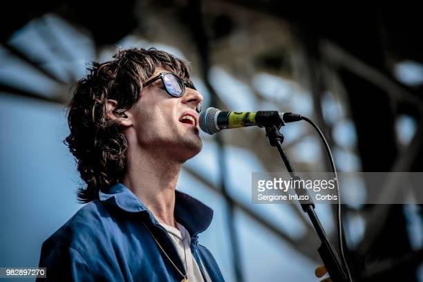 Nick Valensi of CRX perfoms on stage during iDays festival on June 24 2018 in Milan Italy