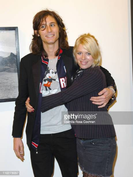 Nick Valensi of The Strokes and Amanda de Cadenet during Anton Corbijn's 'U2 I' Opening at the Stellan Holm Gallery at Stellan Hom Gallery in New...