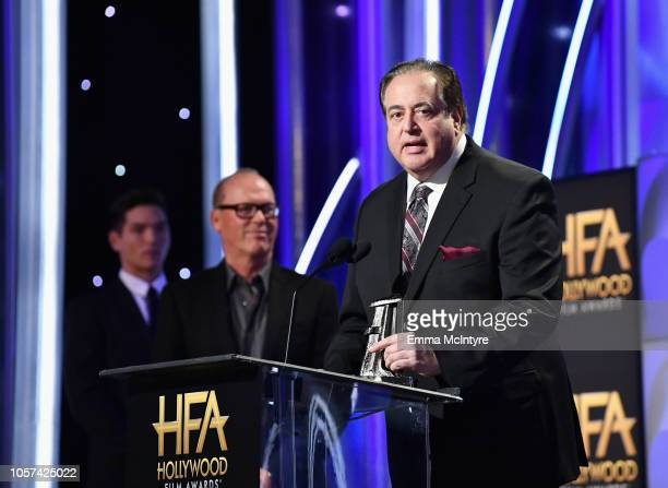 Nick Vallelonga accepts the Hollywood Screenwriter Award for 'Green Book' onstage during the 22nd Annual Hollywood Film Awards at The Beverly Hilton...