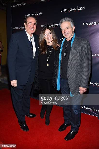 Nick Vallelonga Kim Delaney and Tony Denison attend the 'Unorganized Crime' screening at Charlie Chaplin Theatre on December 18 2016 in Los Angeles...