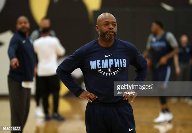 Nick Van Exel looks on during a team practice on March 20 2018 at Temple University in Philadelphia Pennsylvania NOTE TO USER User expressly...