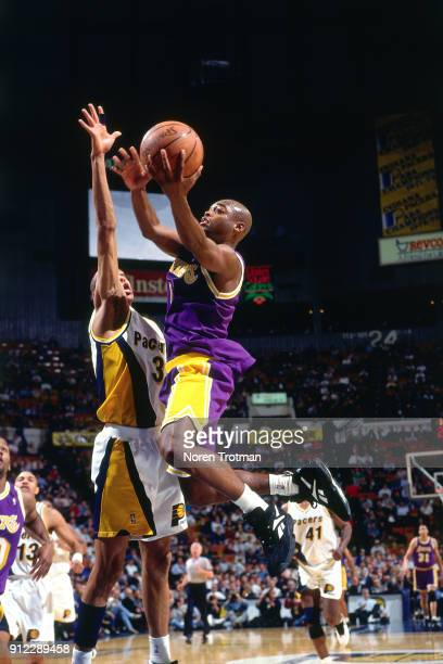 Nick Van Exel of the Los Angeles Lakers shoots during a game played on January 18 1995 at Market Square Arena in Indianapolis Indiana NOTE TO USER...