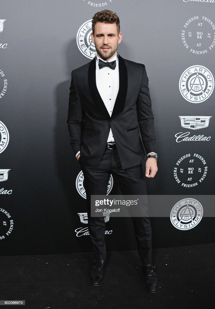 Nick Viall attends The Art Of Elysium's 11th Annual Celebration - Heaven at Barker Hangar on January 6, 2018 in Santa Monica, California.