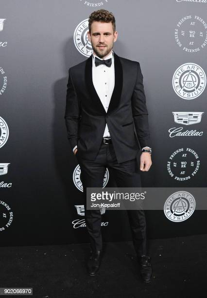 Nick Viall attends The Art Of Elysium's 11th Annual Celebration Heaven at Barker Hangar on January 6 2018 in Santa Monica California