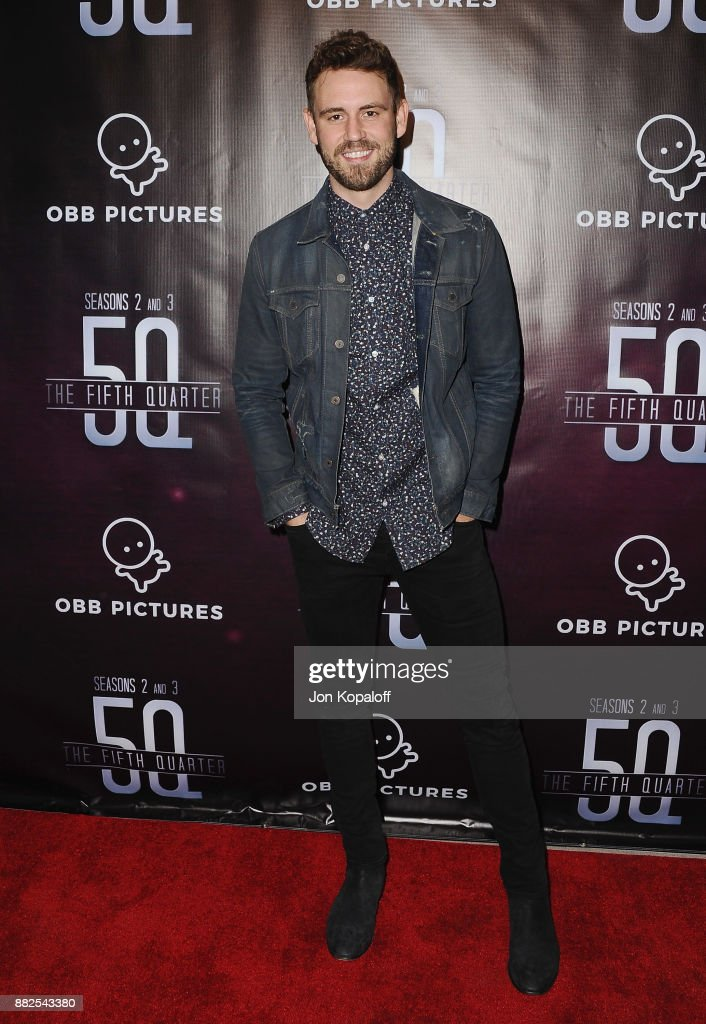 Nick Viall attends the premiere Of OBB Pictures And go90's 'The 5th Quarter' at United Talent Agency on November 29, 2017 in Beverly Hills, California.
