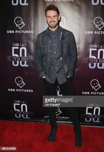 Nick Viall attends the premiere Of OBB Pictures And go90's 'The 5th Quarter' at United Talent Agency on November 29 2017 in Beverly Hills California