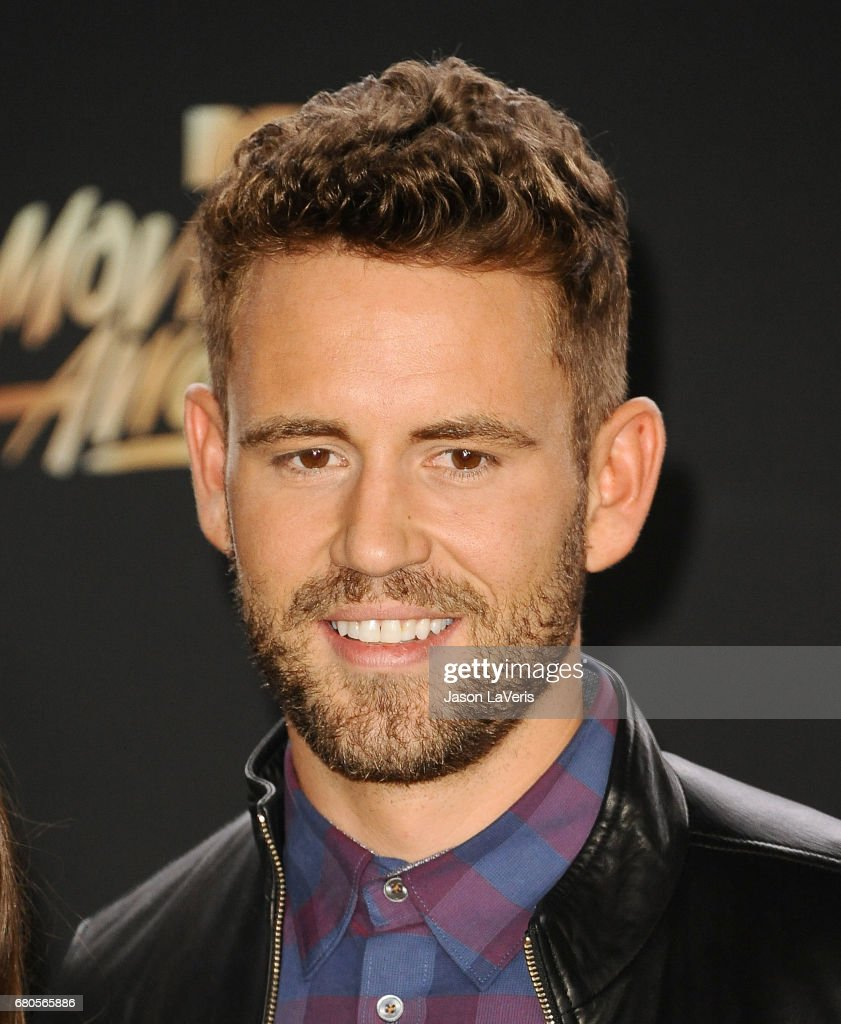 Nick Viall poses in the press room at the 2017 MTV Movie and TV Awards at The Shrine Auditorium on May 7, 2017 in Los Angeles, California.